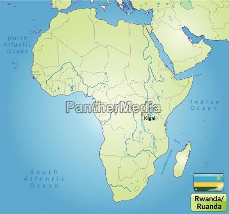 surrounding area of rwanda with capitals