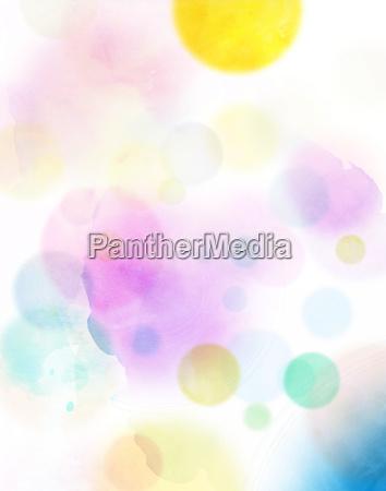watercolor abstract circles colorful