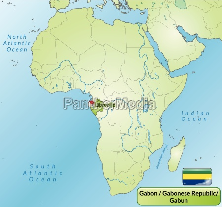 surrounding area of gabon with capital