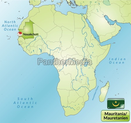 area map of mauritania with capitals