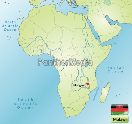 surrounding area of malawi with capital
