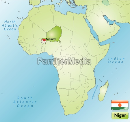 surrounding area of niger with capitals