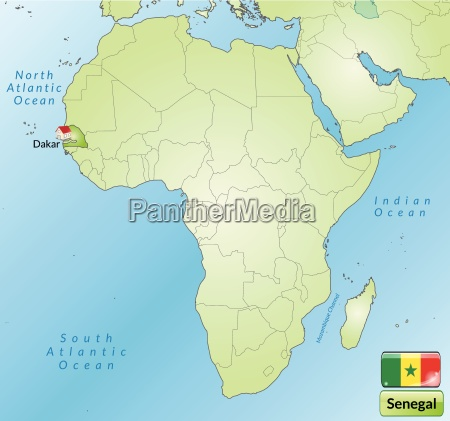 surrounding area of senegal with capitals