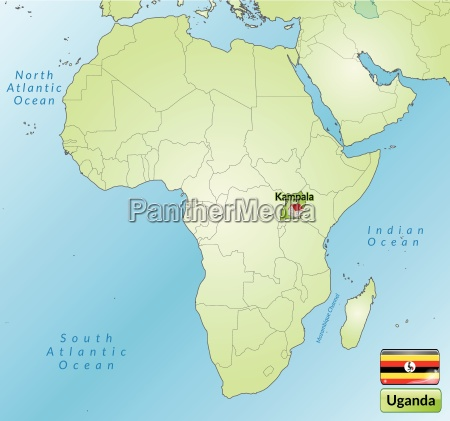 surrounding area of uganda with capitals