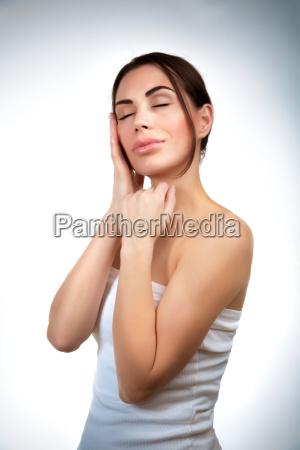 sensual woman at spa