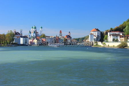 passau at the confluence of inn