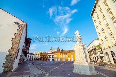 historic plaza in cartagena colombia