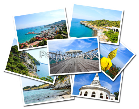 collage of sichang islands chonburi thailand