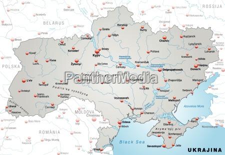 map of ukraine as a survey