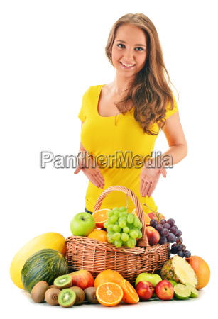 variety of fruits in wicker basket