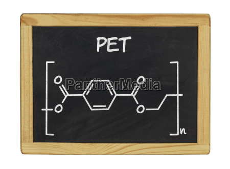 chemical structural formula of pet on