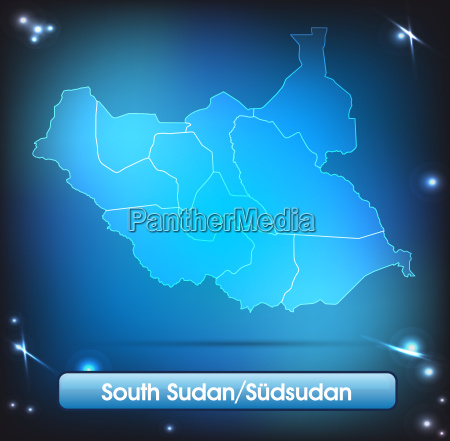 map of south sudan with borders
