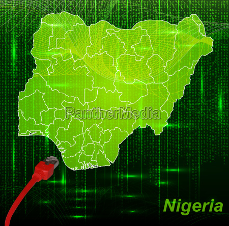 map of nigeria with borders in