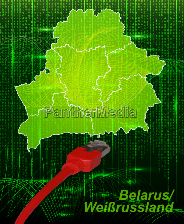 map of belarus with borders in