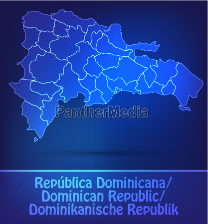 map of dominican republic with borders