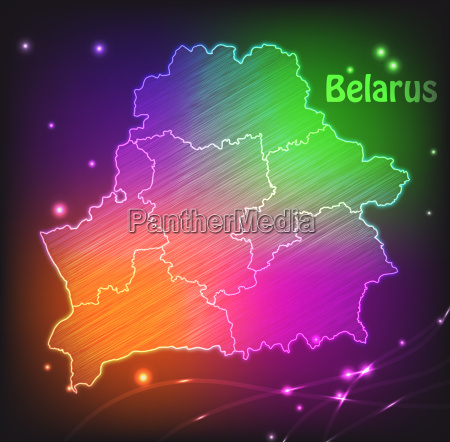 map of belarus with borders as