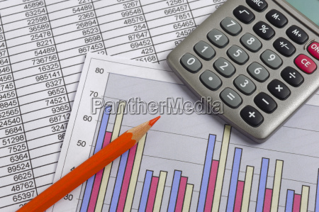 finance with calculation chart table of