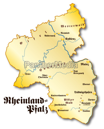 map of rhineland palatinate as a