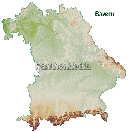 map of bavaria as an overview
