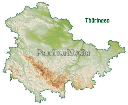 map of thueringen as an overview