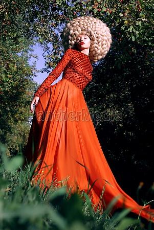 fantasy artistic stylized woman in trendy