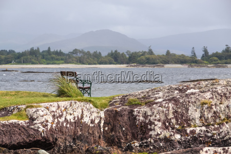 seaside bank in harsh weather