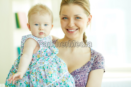 woman with daughter