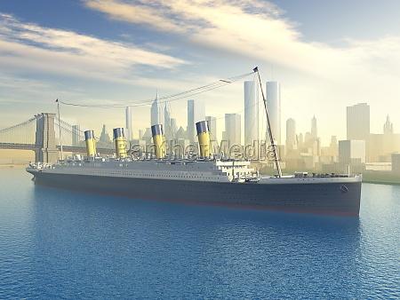 ocean liner in new york