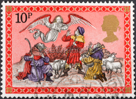 angel appearing before the shepherds