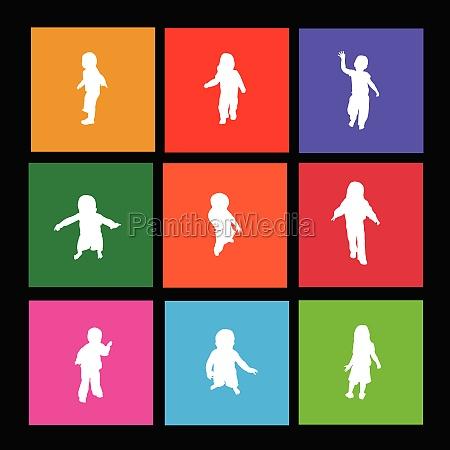 children metro icons