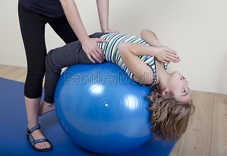 back training with child