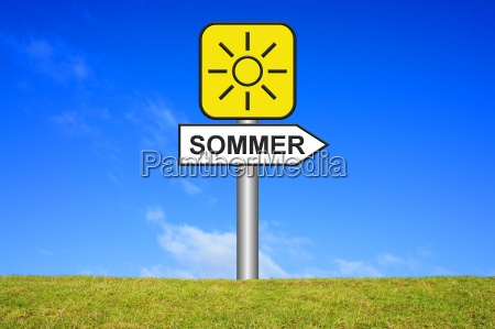 signpost sign summer