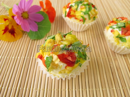 herb butter chocolates with edible flowers