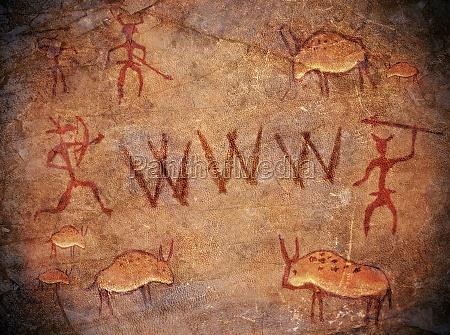 prehistoric world wide web cave paint