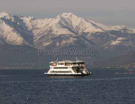 ferryboat on lake como during the