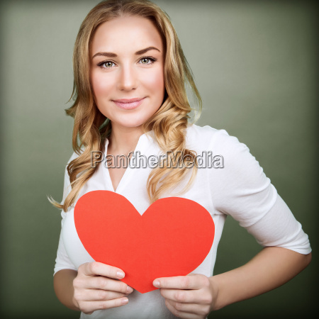 cute female in love