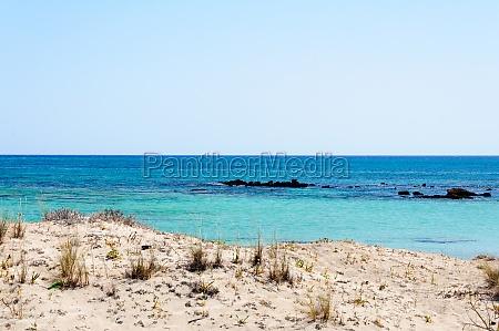 elafonissi beach with pinkish white sand