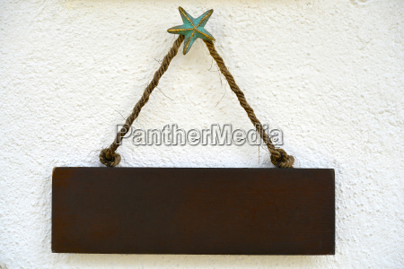 wood signs and rope