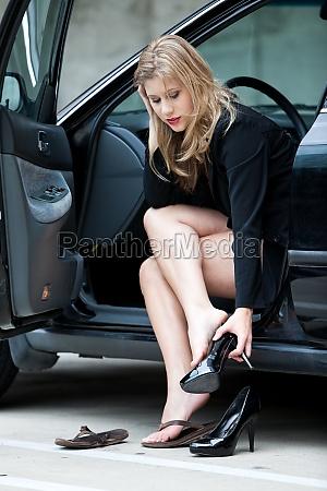 beautiful blonde twenties businesswoman