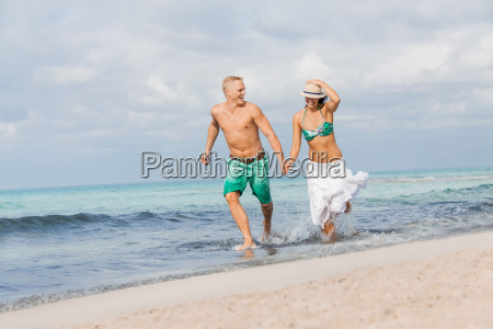young happy couple in love on