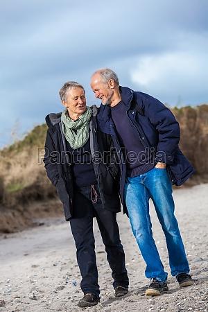 walk senior adult senior couple on