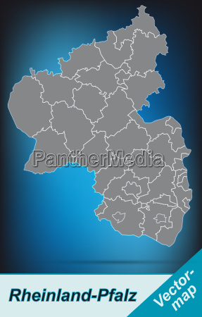 map of rhineland palatinate with borders