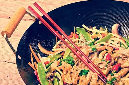china wok vintage style