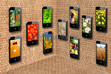 mobile phones in three dimensional flatness