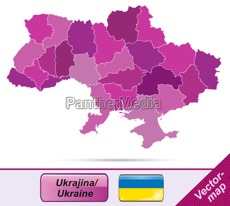 map of ukraine with borders in