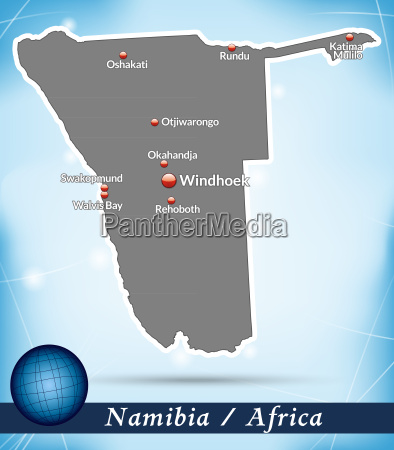 map of namibia abstract background in