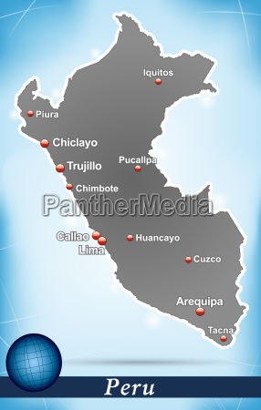 map of peru abstract background in