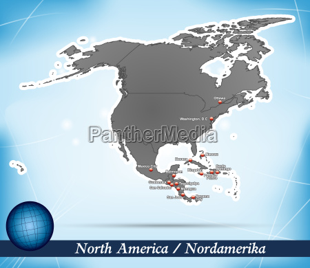 map of north america abstract background