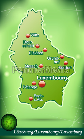 map of luxembourg abstract background in