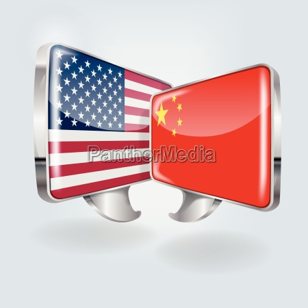 speech bubbles in chinese and american